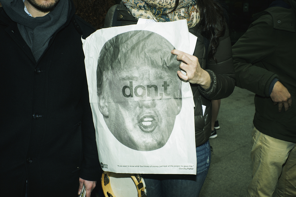 Anti Donald Trump rally took place at Columbus Circle on March 19, 2016 in Manhattan, NY.   ©    Go Nakamura     photography