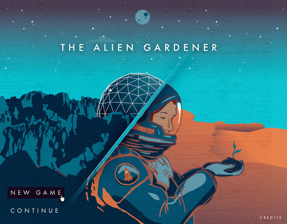 The Alien Gardener - A collaboration between Field Day Lab and the Desert Research Institute at the University of Nevada. This game will challenge players to colonize the galaxy, one garden at a time.Role: Story, Dialogue, Script Writing, Game Design, Content Strategy
