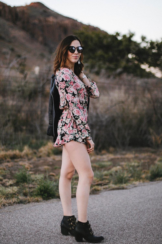 wearing: happy endings floral romper