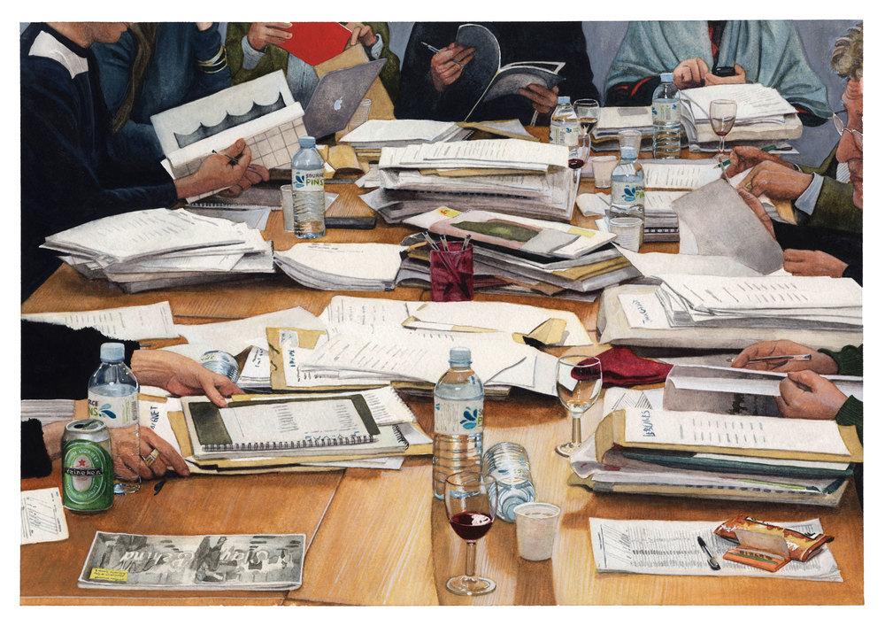 La sélection aquarelle sur papier 27,5x40cm collection particulière
