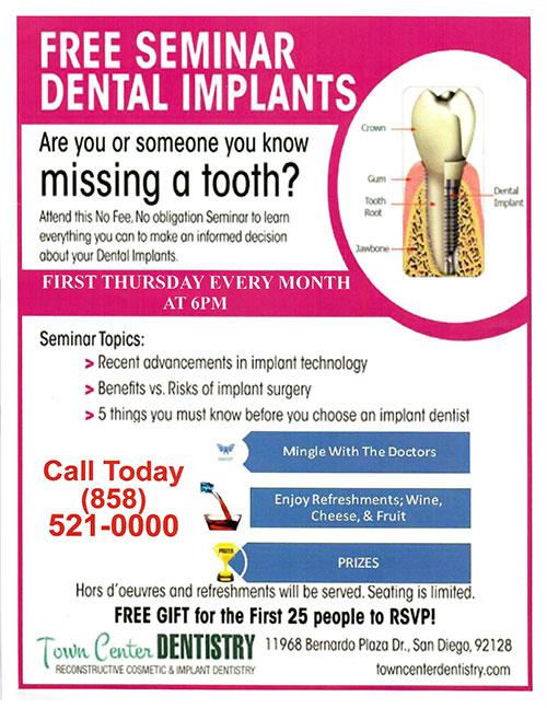 Town Center Dentistry Dental Implant Seminar Rancho Bernardo