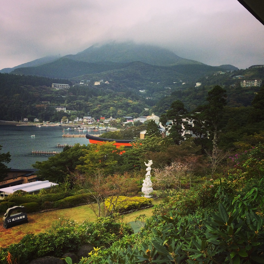 Lake Ashi from the Narukawa Art Museum in Motohakone
