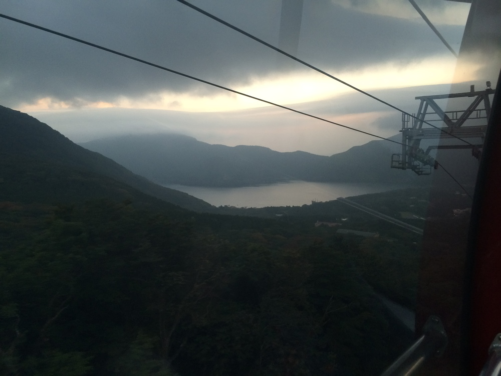 Lake Ashi from the Hakone Ropeway