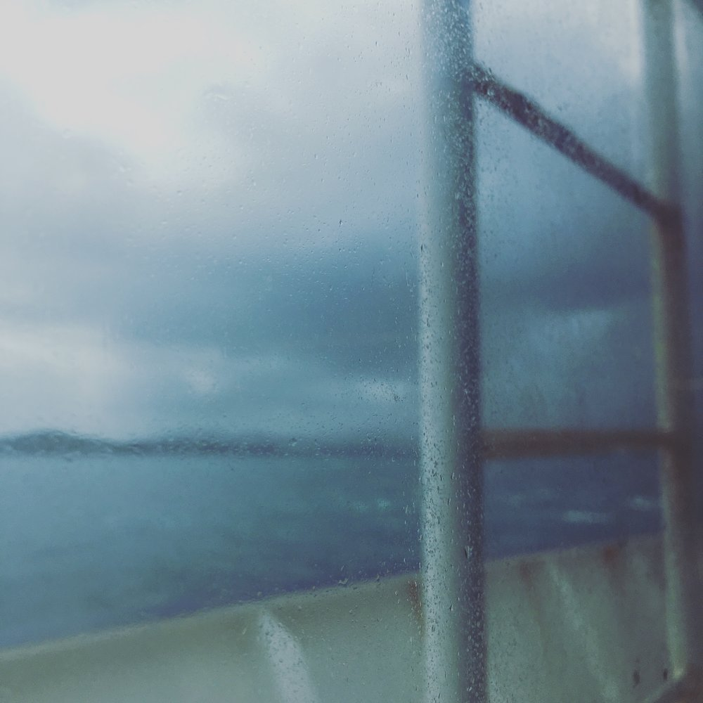 Riding through a storm on the Fajardo-Vieques ferry