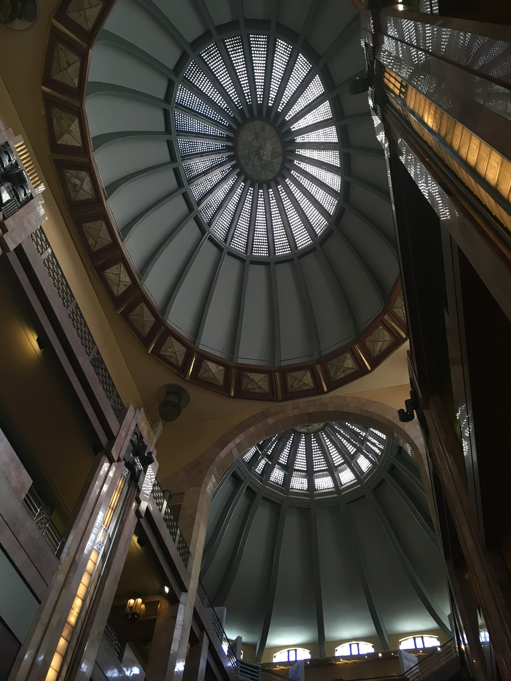 The glass dome of Pallacio de Bellas Artes
