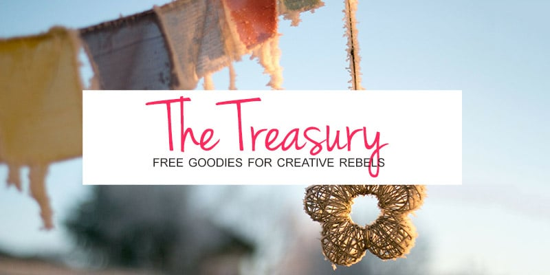The Treasury: free goodies for creative rebels.