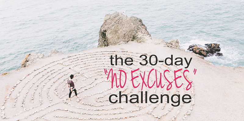 "Join the 30 Days ""No Excuses"" Challenge via Violeta Nedkova"