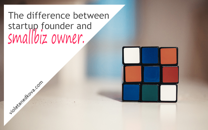 What's the difference between a startup founder and a small business owner? The answer lies here.