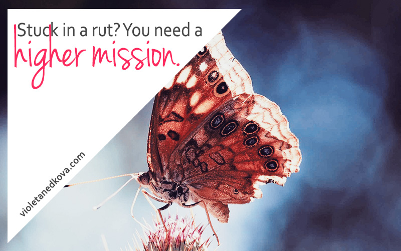 Stuck in a rut? What you need is a higher mission and a bit of rebellion. :)