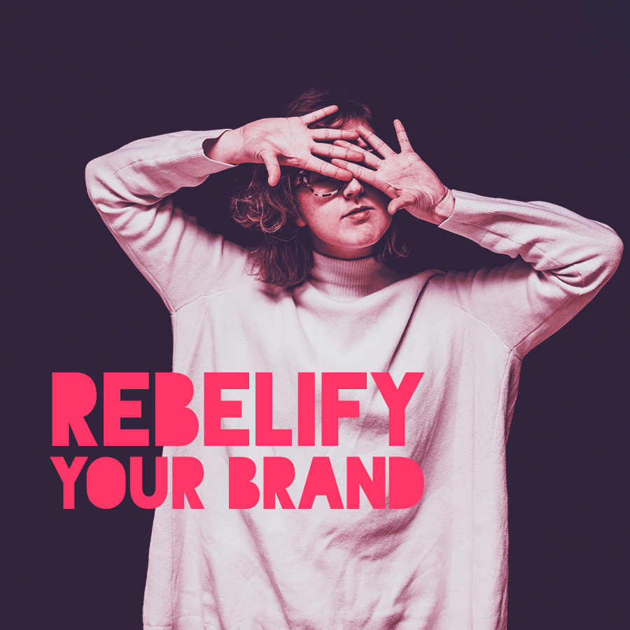 The Rebelify Your Brand workbook will help you see your brand from a rebel's perspective. (Full of questions, exercises, and prompts.)