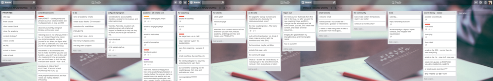 Do you have a mile-long to-do list? Here's how to make a list of all of your mini-goals on trello and chip away at them, day by day.