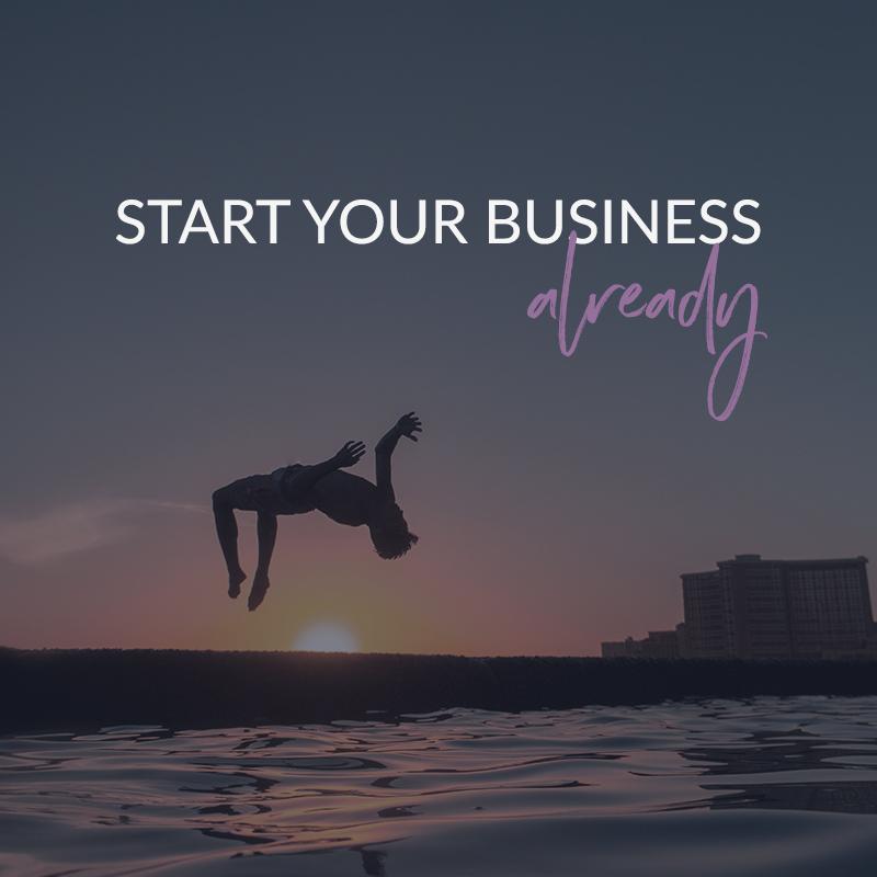 Start Your Business Already - a coaching program for creative rebels - violetanedkova.com