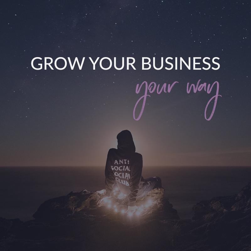 Grow Your Business Your Way - a coaching program for creative rebels - violetanedkova.com