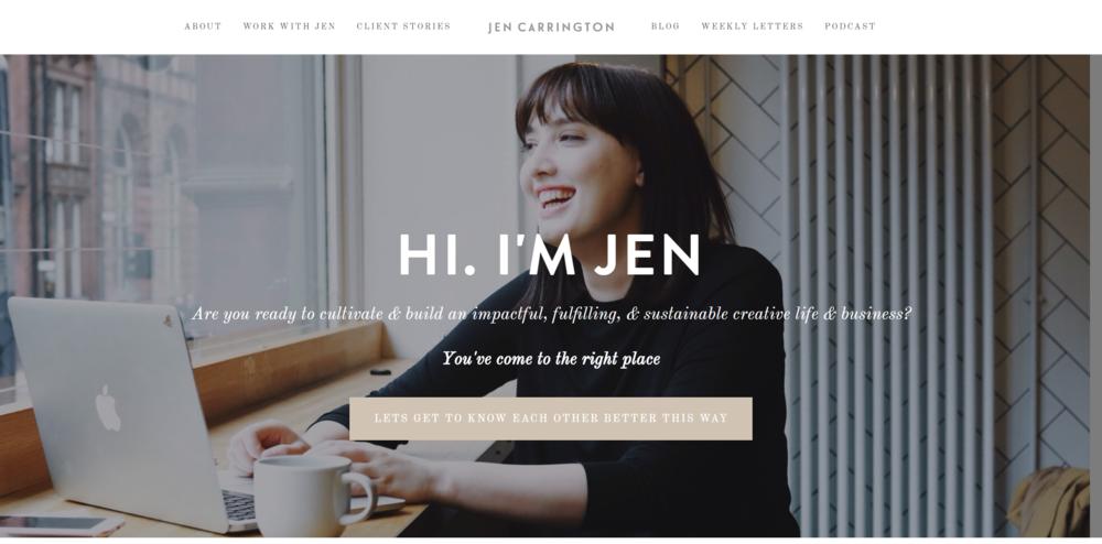 Jen Carrington is a creative coach for big-hearted creatives.