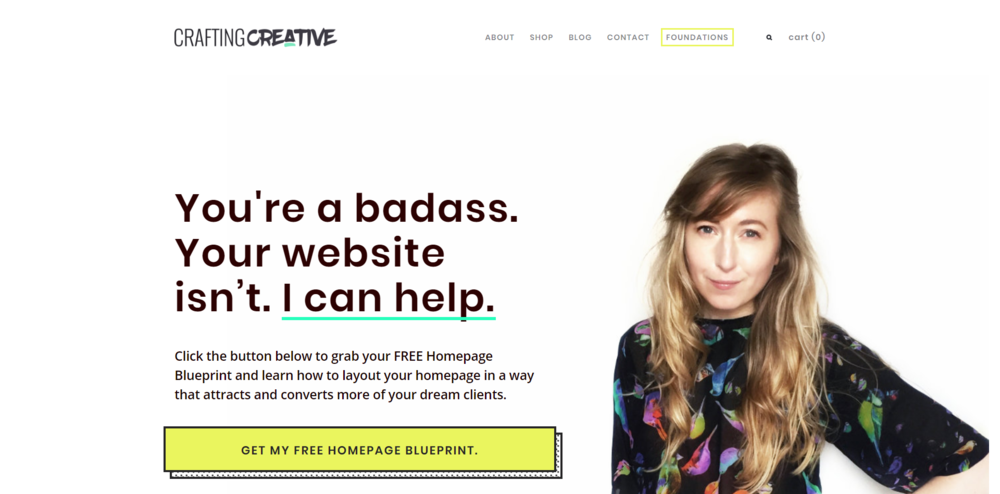 You're a badass, but your website isn't. This can help. | Crafting Creative