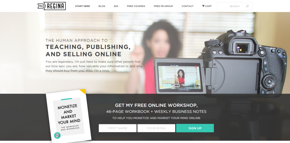 byRegina is all about teaching, publishing, and selling online, the human way.