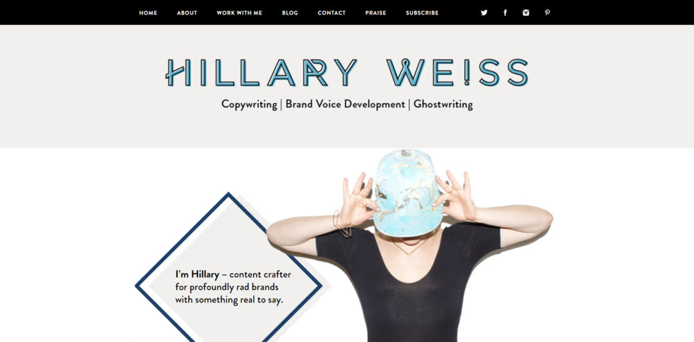 Hillary Weiss is a copywriter for rad people with something real to say.