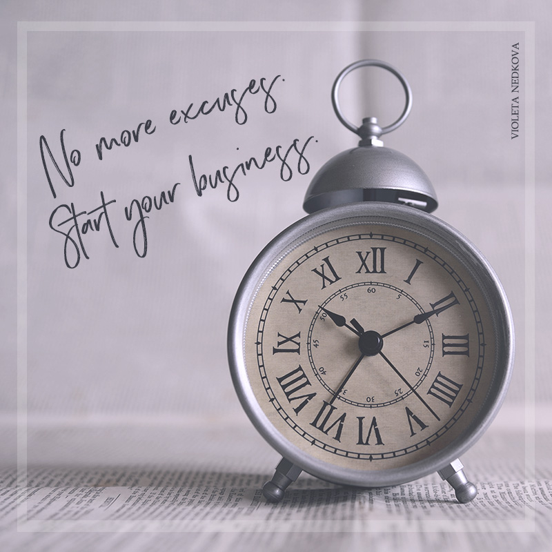 No time, money, or mentors? You can still start your business. | violetanedkova.com