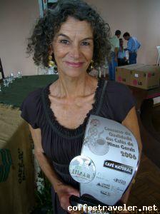 Maria Aparecida Dias de Castro, 2ª Colocada no Concurso de Qualidade de Café de Minas Gerais – 2006;