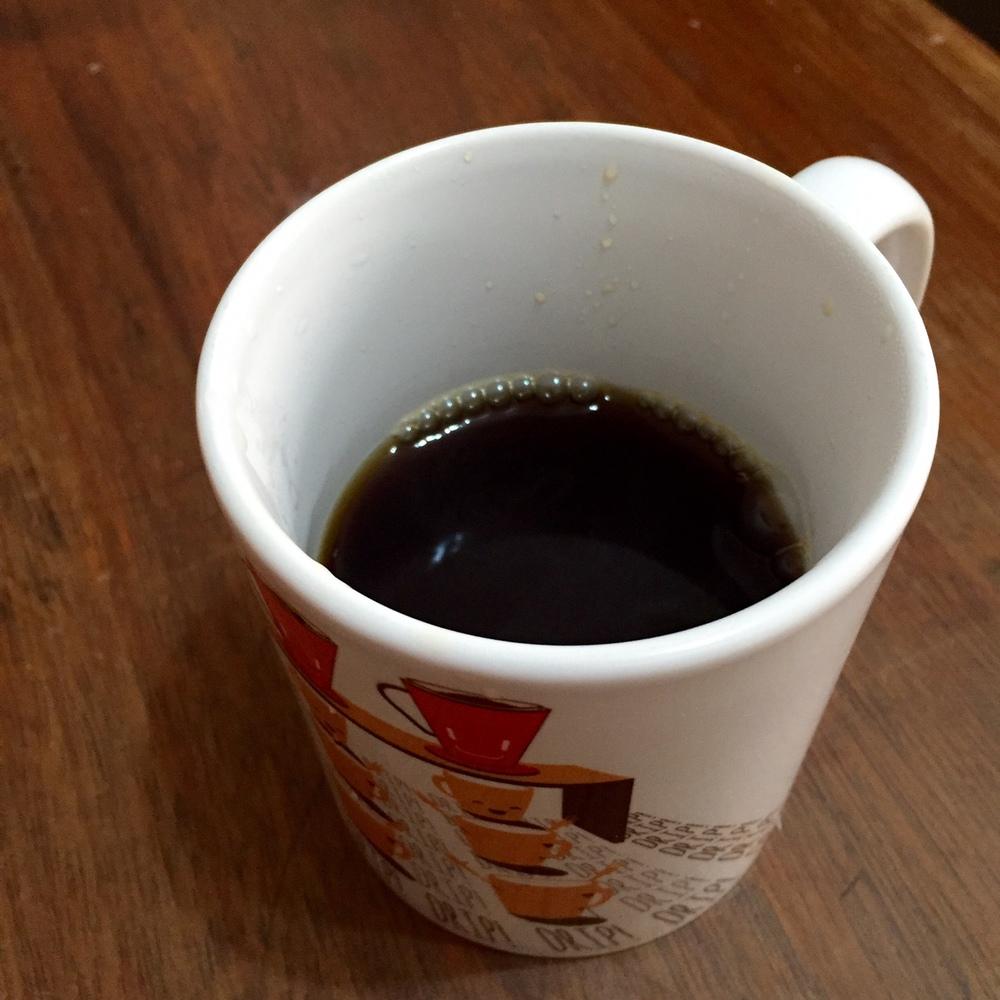 Café supimpa numa caneca supimpa da Academia do Café, BH, MG.