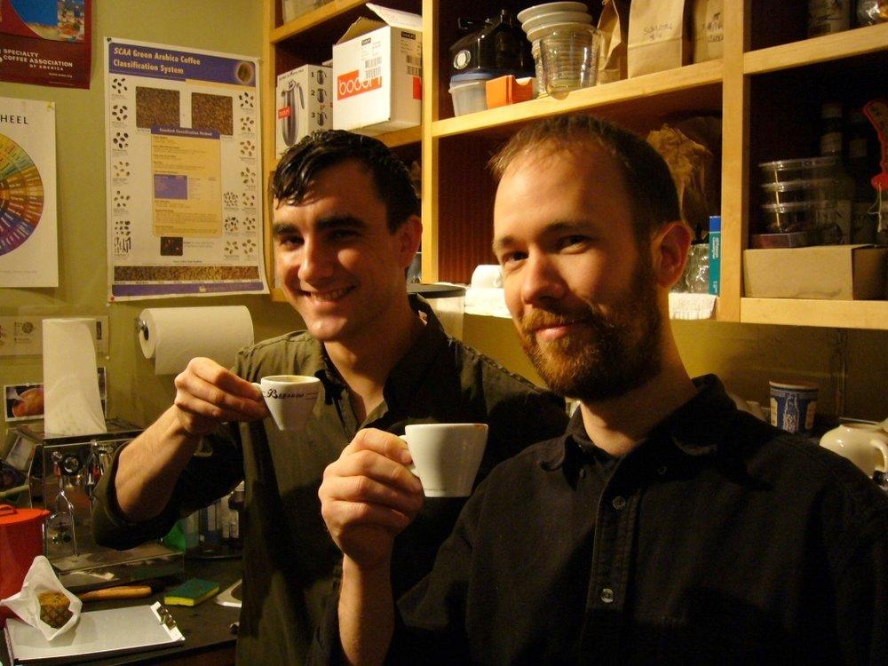 Kyle Glanville e Tony Konecny, Victrola Coffee Roasters, Seatlle, WA. Março de 2006.