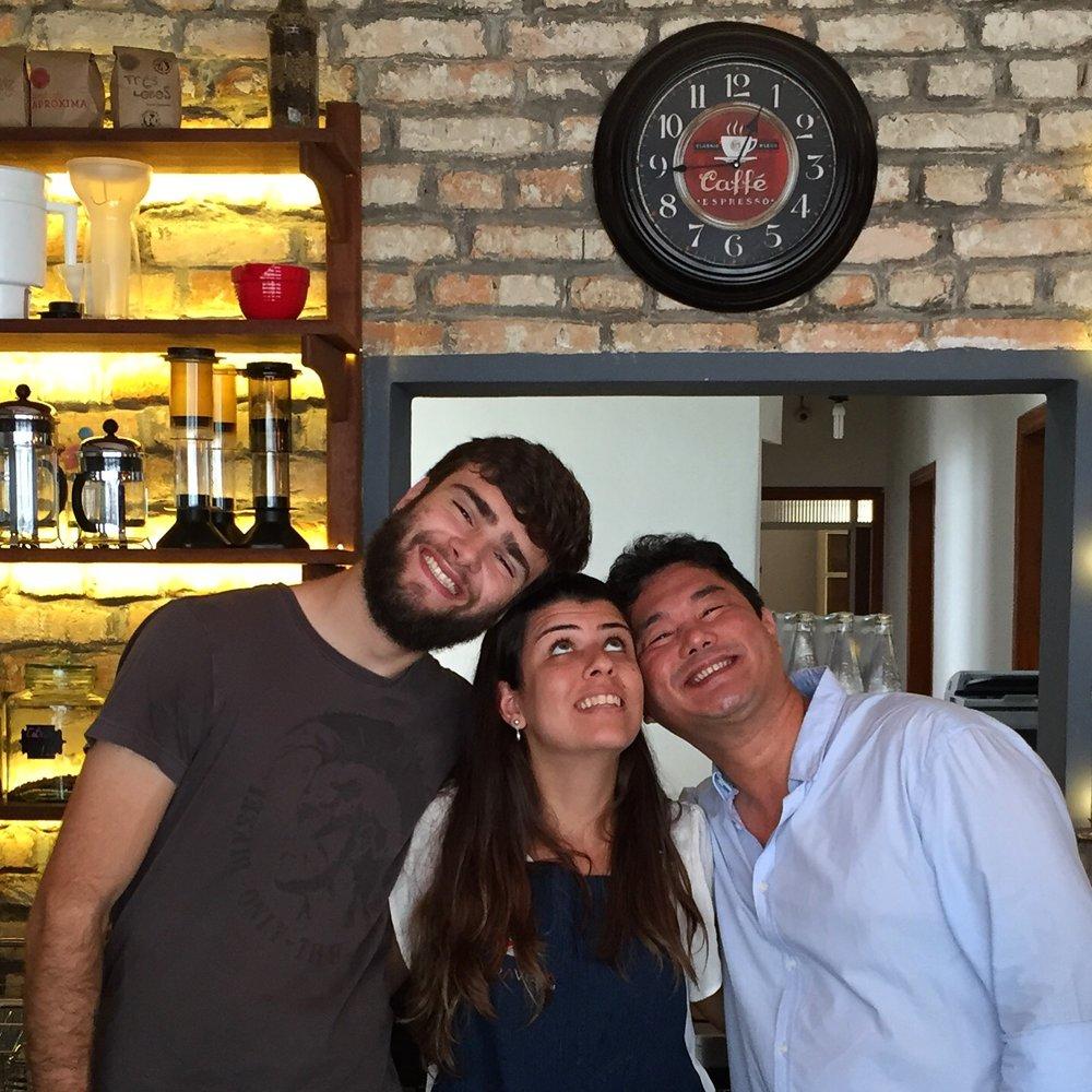Ivan, Julia e eu, Academia do Café, BH.