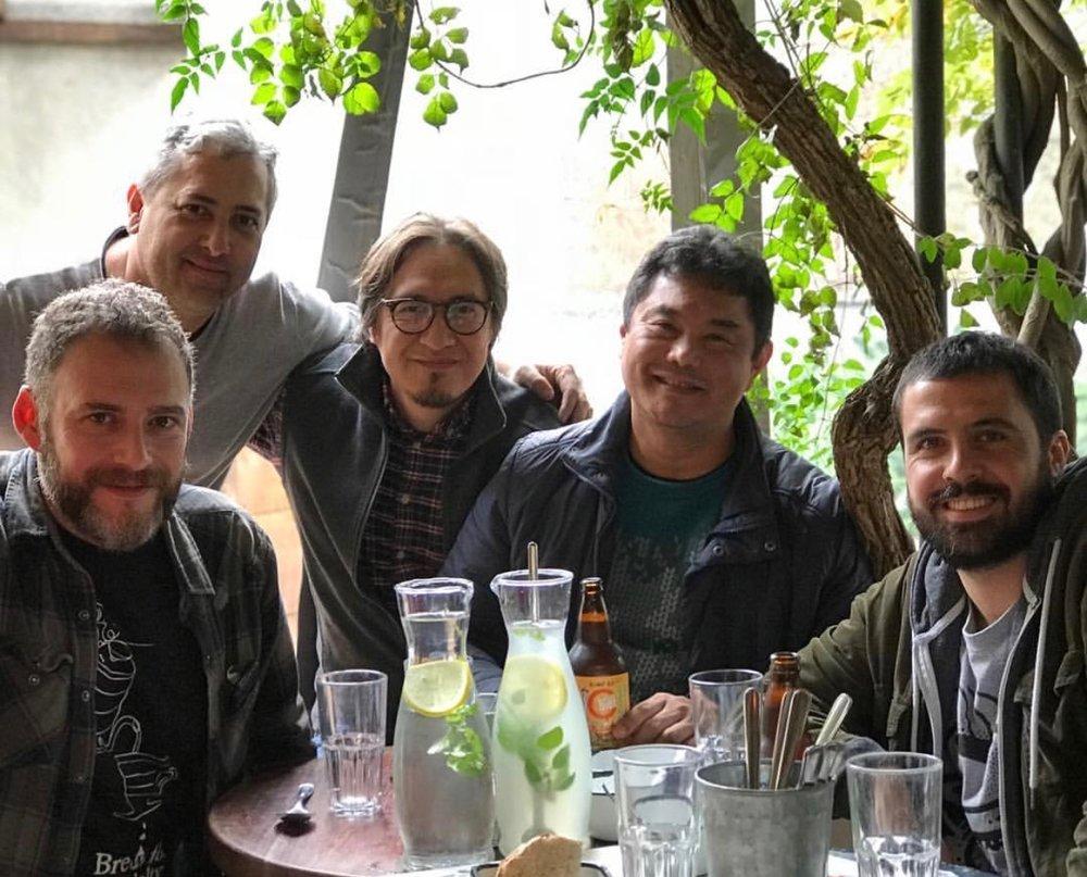 (E/D)Alvaro Planzo, Juan Pablo Imbellone, Daniel Kondo, Ensei Neto e Nacho Gallo