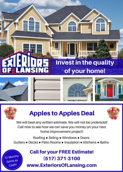 Roofing, Siding & Window Specials | Lansing, MI — Exteriors of Lansing