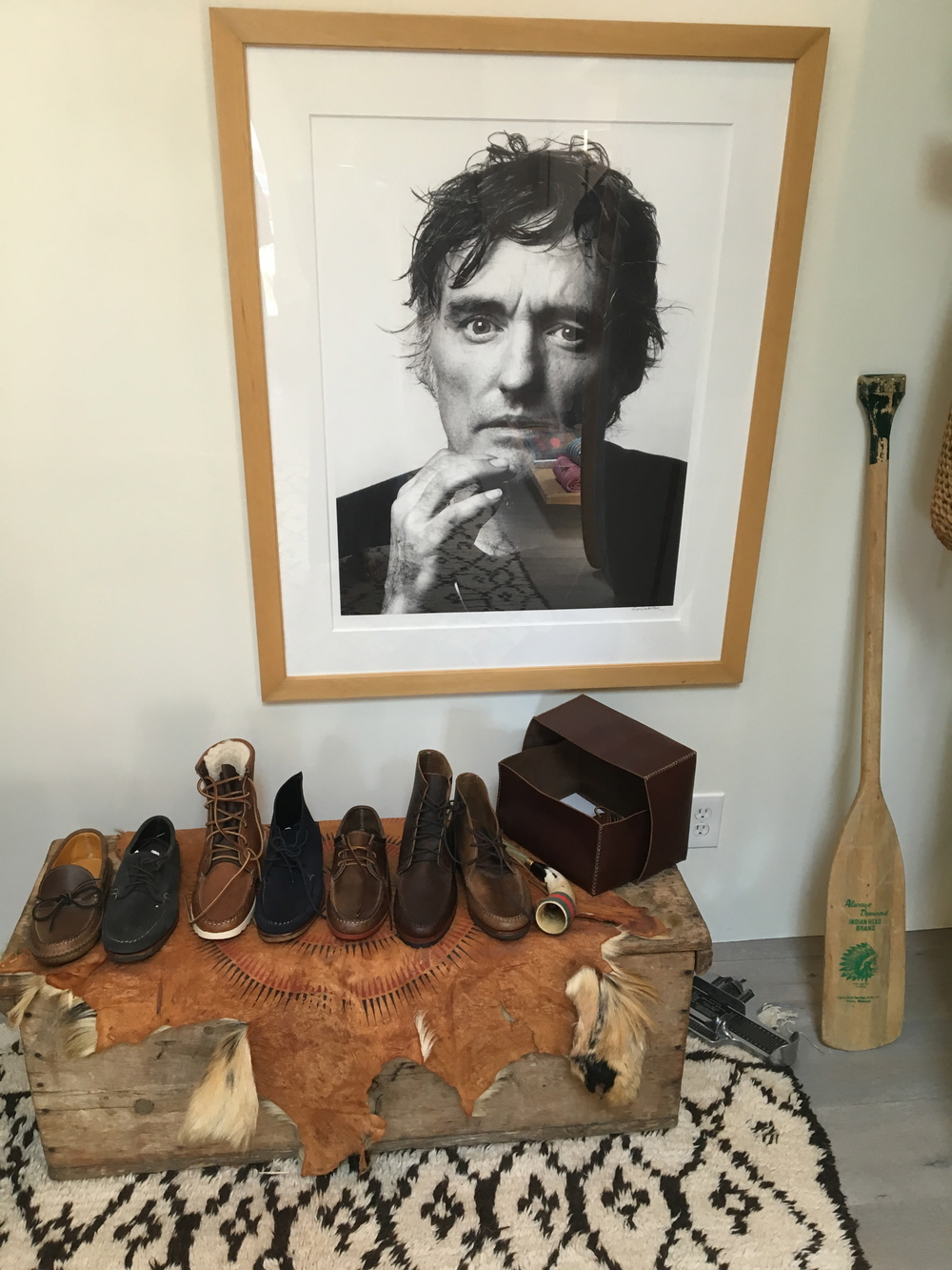 Men's shoes on display at  In The Field , Ojai