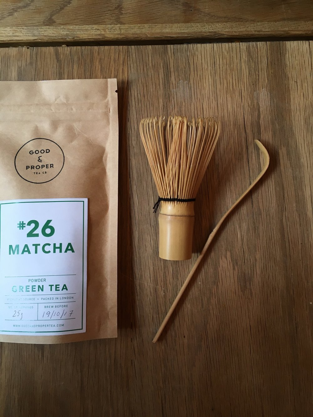 Ceremonial Grade Matcha, Bamboo Whisk + Bamboo Scoop