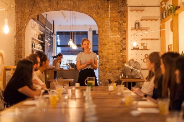 Good & Proper Founder Emilie Tea Tasting