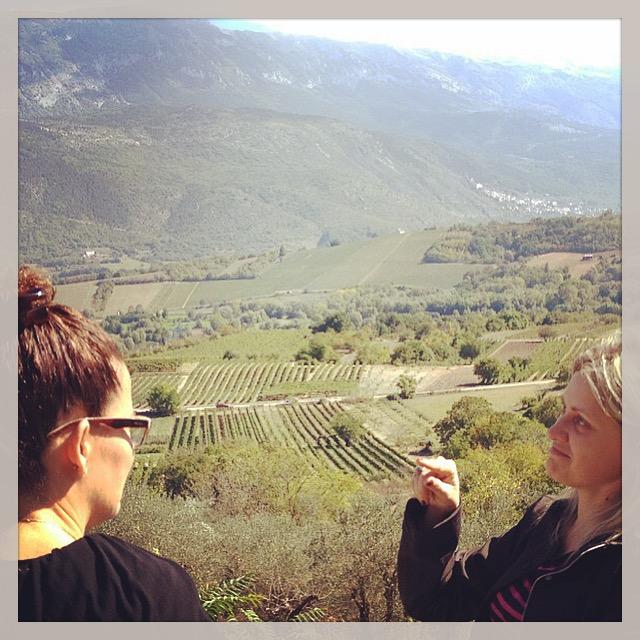 Linda Plazonja guides private wine tour, Abruzzo, Italy.