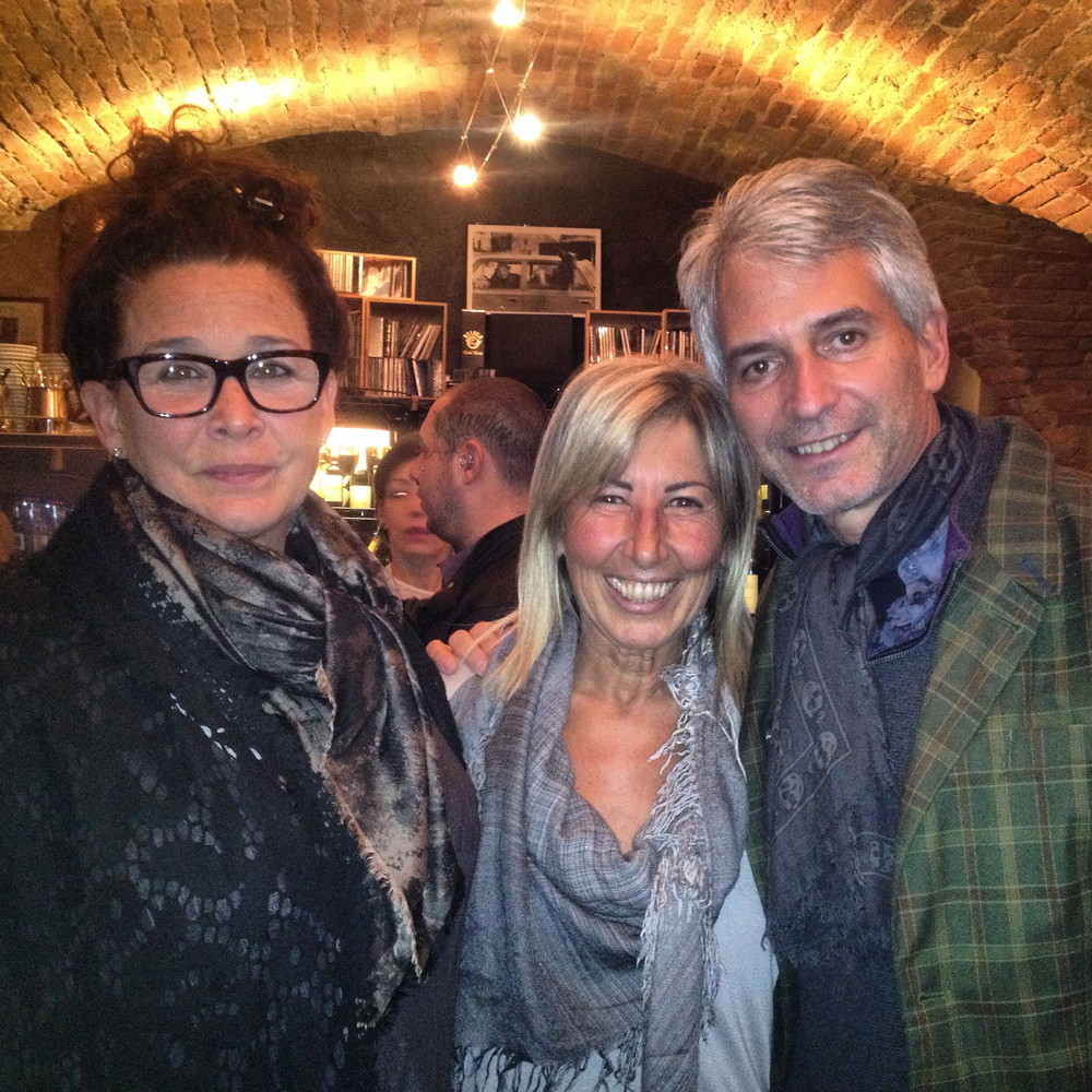 Linda and Jonathan Plazonja of Morso Travel with Ana Abbona of Marchesi di Barolo.