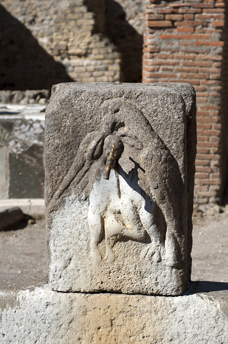 Public water supply in ancient Pompeii