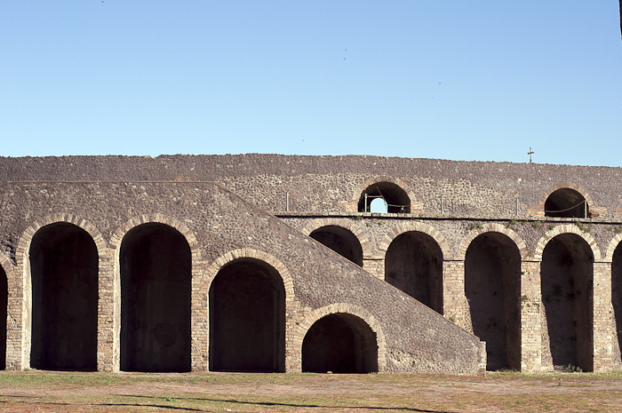 The amphitheatre in ancient Pompeii