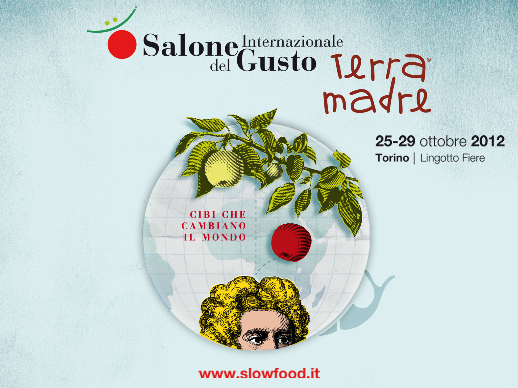 The whimsical logo of Salone del Gusto 2012