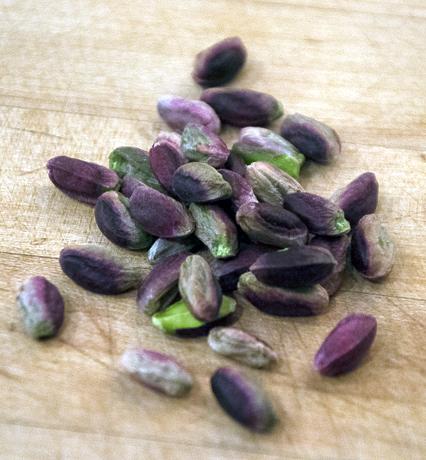 Beautiful purple and green pistacchio