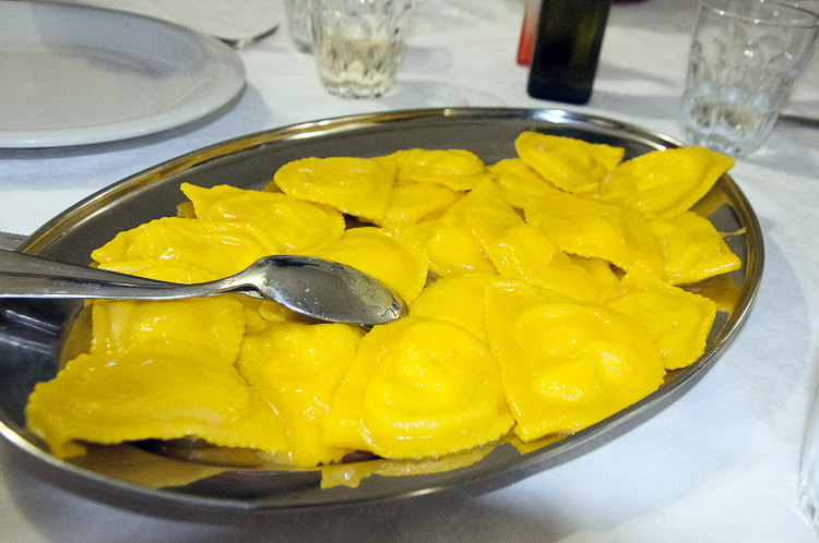 Saffron and Ricotta Ravioli in Santo Stefano di Sessanio.