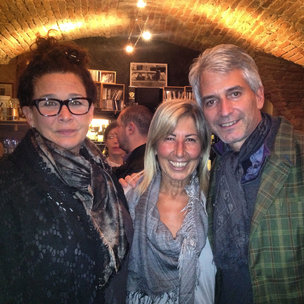 Linda and Jonathan Plazonja with Anna Abbona of the Marchesi di Barolo estate.