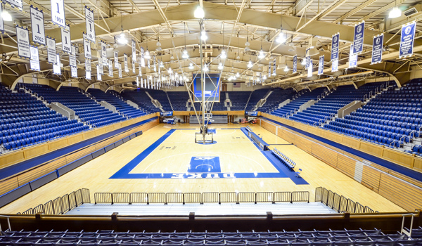 I've never actually been to a game in Cameron, so if someone wants to give me tickets to a game that may bump this up the list a couple spots.  However, I really enjoyed being in this building for Duke basketball camps.