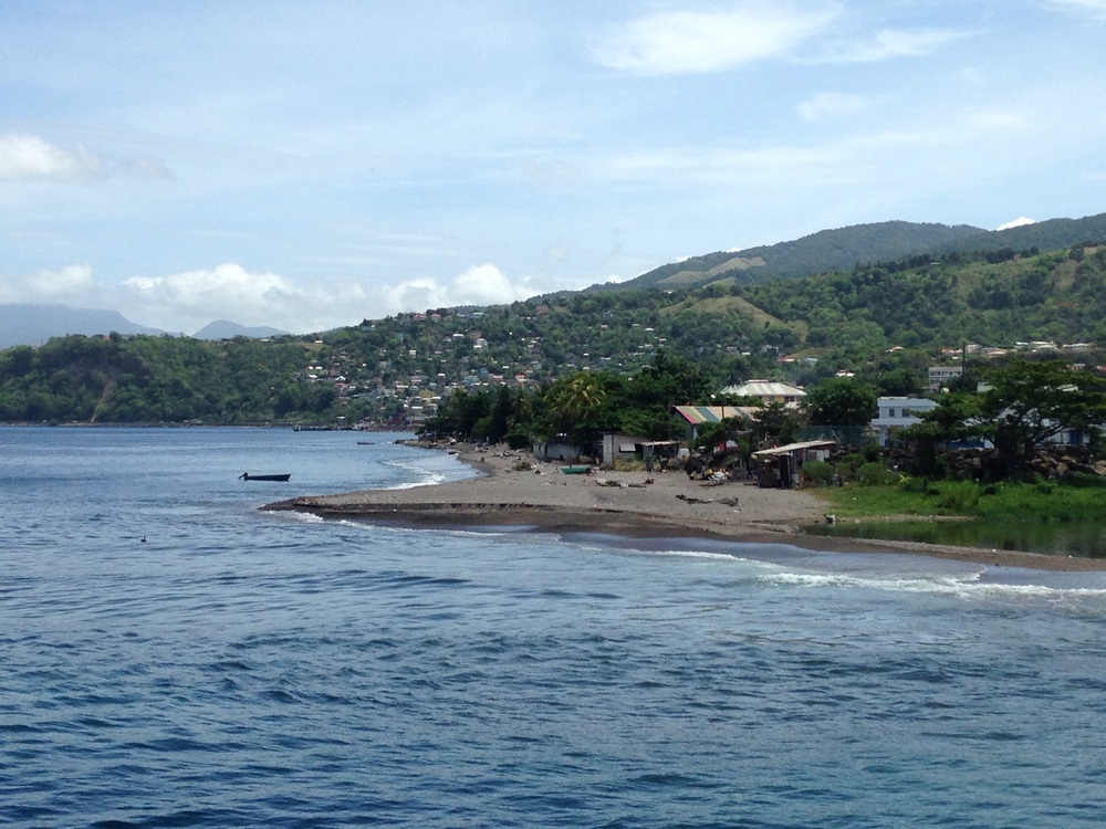 Arrival in Dominica