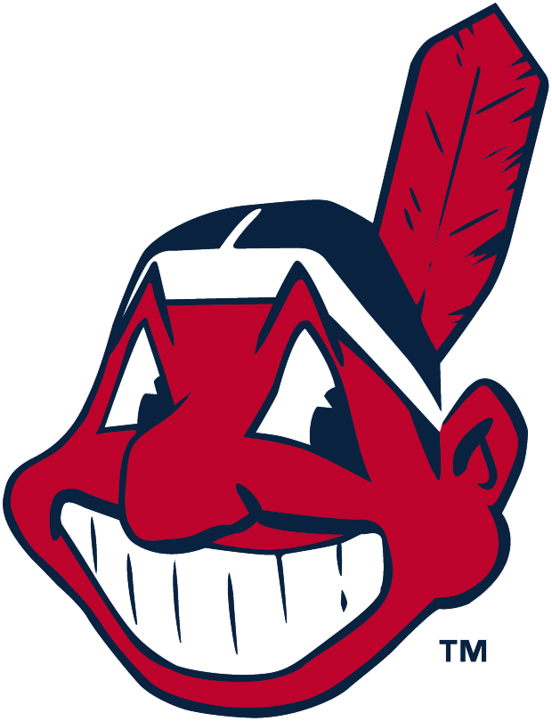 "This logo makes me smile.  Not sure if the movie ""Major League"" has anything to do with it, but I've always liked the Indians because of this logo."