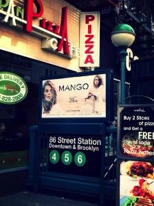 European pizza cafe & the 86th street subway. New York, NY. Schaubhut, 2014