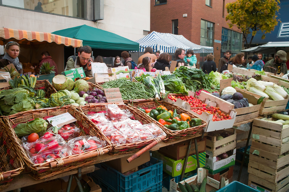 Temple Bar Food Market in Dublin. Image by William Murphy, used via CC BY-SA 2.0.