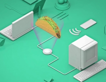 Taco Bell's Tacobot, which allows a Slack user to place an order from within the app. Image: Taco Bell