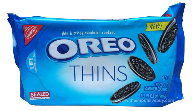 Oreo's new thin cookies promise the same Oreo flavor in a skinnier bite. Image: Oreo.com