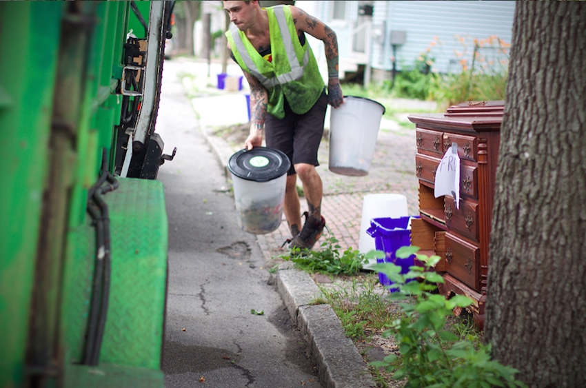 From curbside pickups and other collection services,Garbage to Garden produces 50 tons of compost per week for use in gardens and farms around Maine.