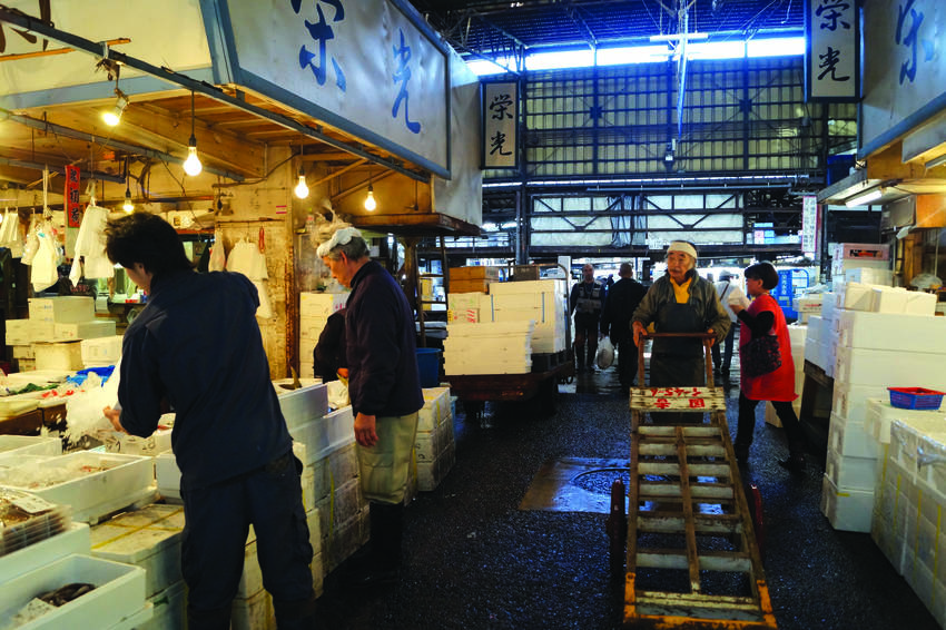 Sellers prepare bins of fish for the wholesalers, chefs and retail customers that frequent the market daily.PHOTO: MAGALÍZASLABSKY