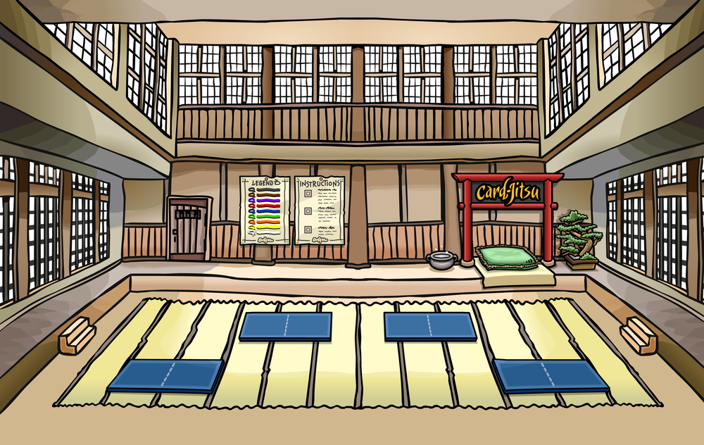 The Dojo from Club Penguin