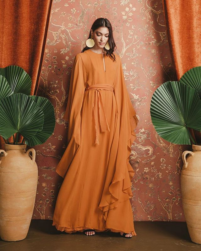 Fall Winter 2018 is here... Silk Chiffon Caftan, now available for pre-order on our website, link in bio